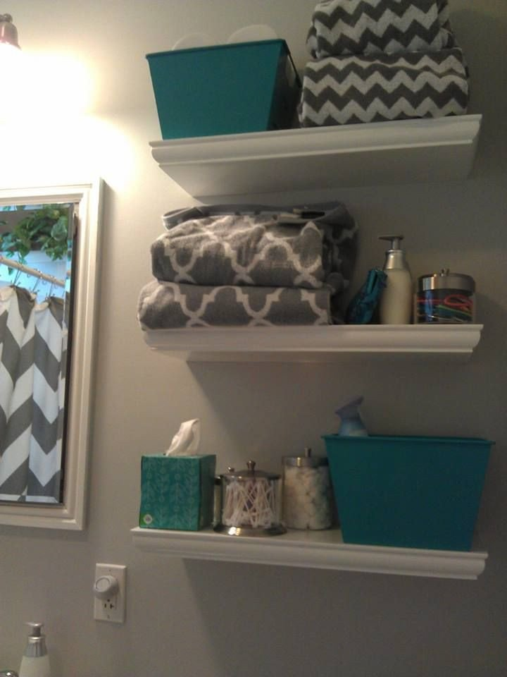 Teal and Gray Bathroom Decor Unique Hgtv Floating Shelves Woodworking Projects & Plans