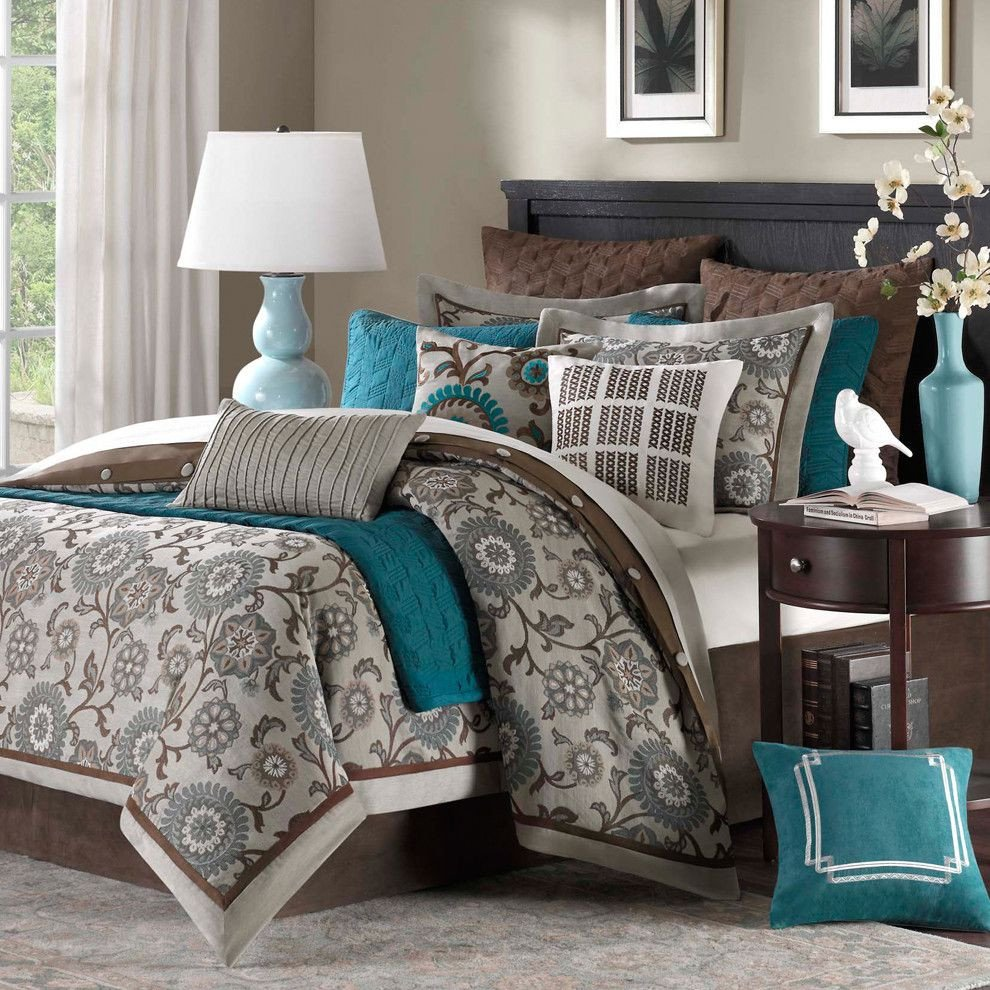 Teal and Gray Bedroom Decor Awesome 22 Beautiful Bedroom Color Schemes Decoholic