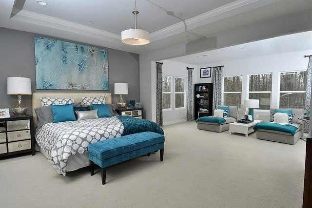 Teal and Gray Bedroom Decor Elegant Gray White and Pops Of Teal Bedroom Idea Home Decor Inspiration