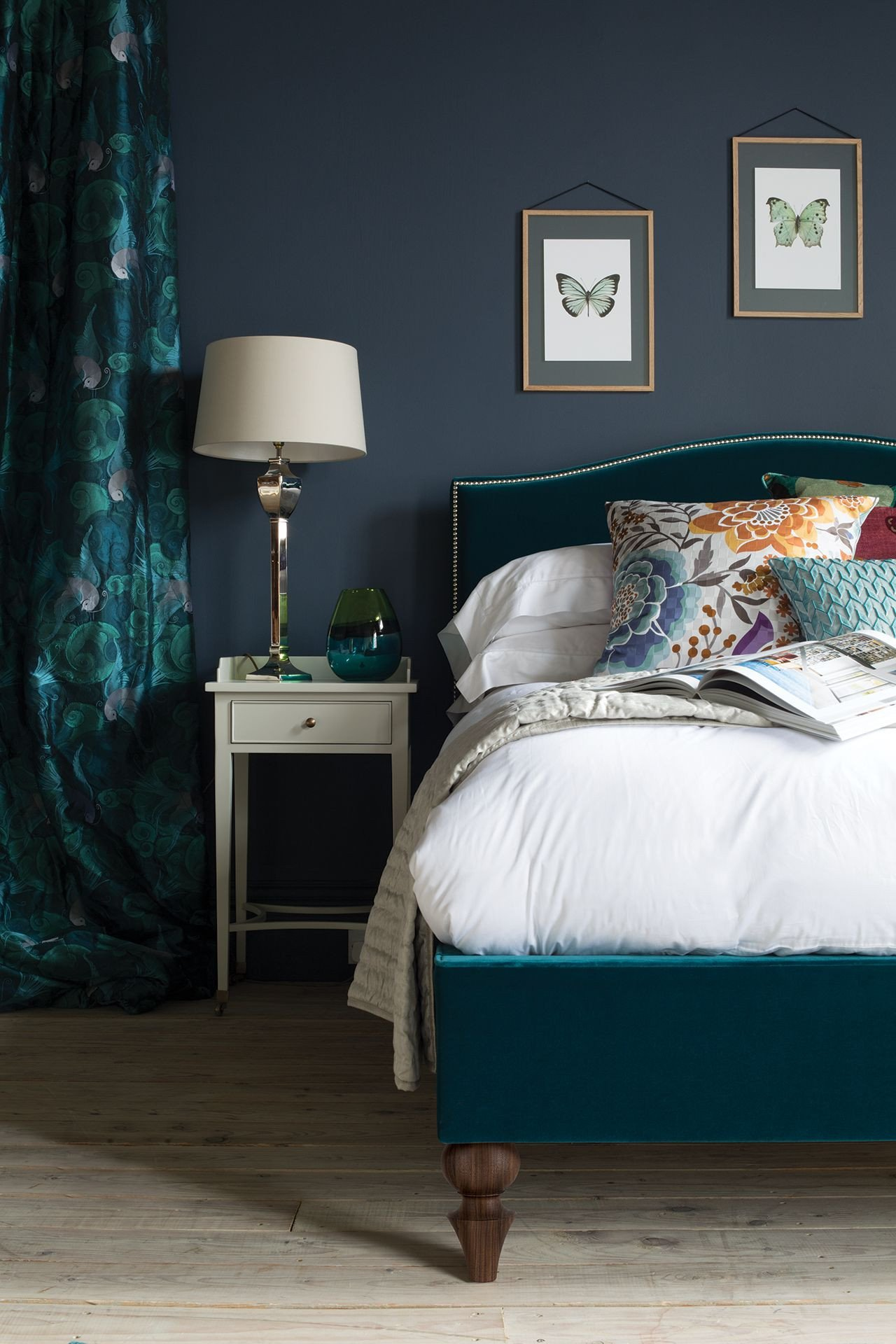 Teal and Gray Bedroom Decor Fresh Teal and Dark Grey the Richmond Bed by and so to Bed In Teal Velvet Featuring Missoni Home