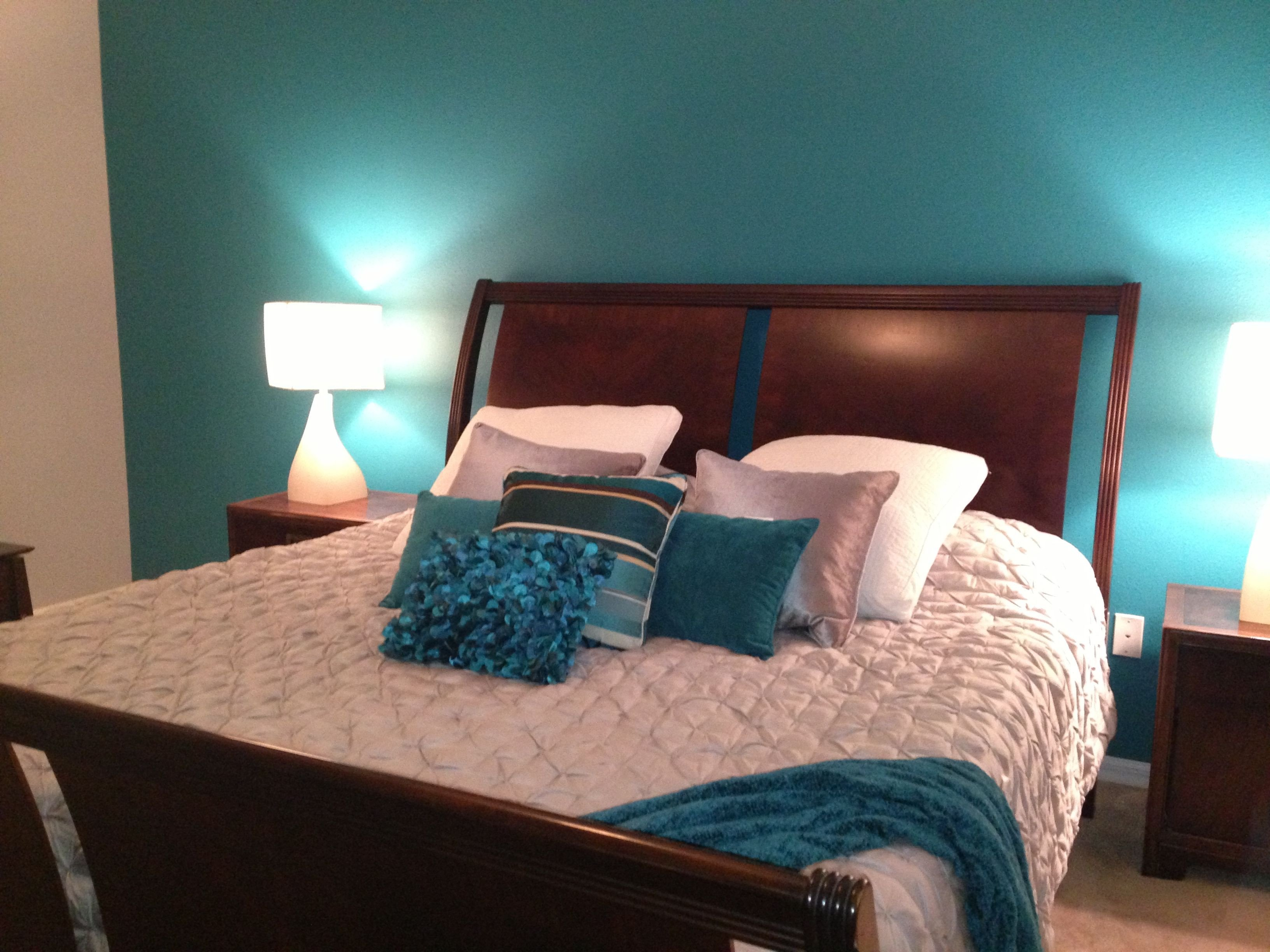 Teal and Gray Bedroom Decor Inspirational My Master Bedroom Teal and Grey
