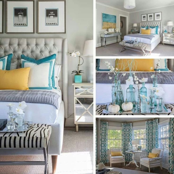 Teal and Gray Bedroom Decor Lovely Color Palette
