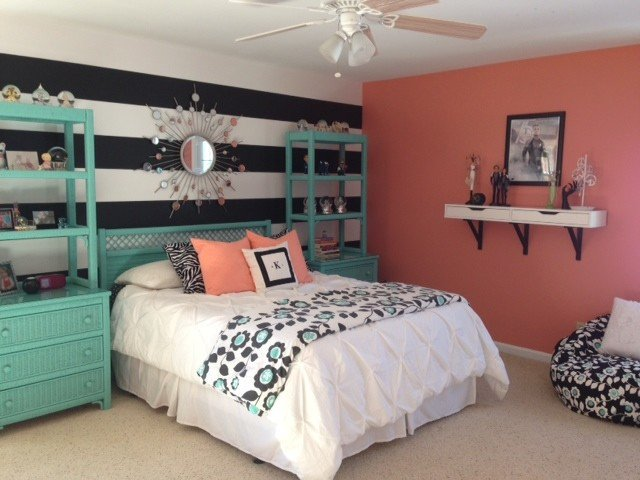 Teal and Gray Bedroom Decor Unique Girl S Teal & Coral Bedroom