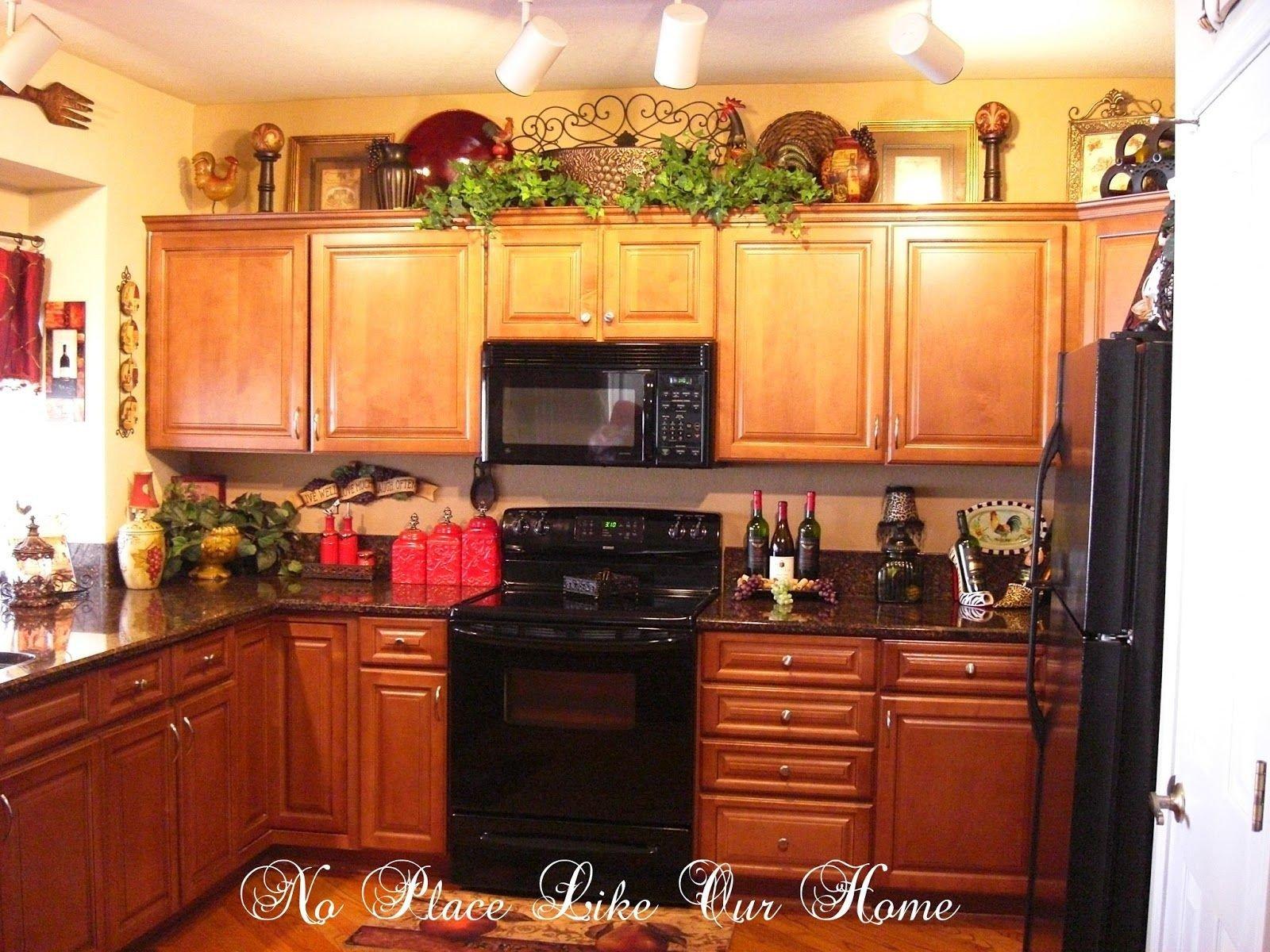 Top Of Kitchen Cabinet Decor Elegant Pin On Kitchen Ideas