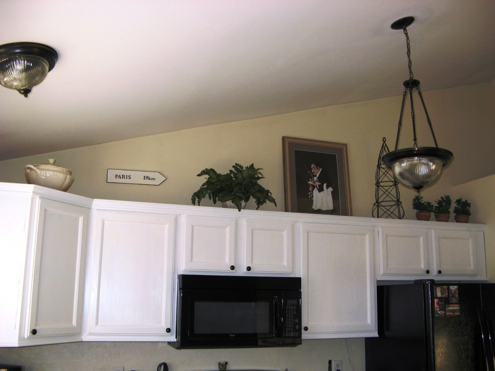 Top Of Kitchen Cabinet Decor New French Hollow Farm Decorating Over the Cabinets Not Over the top