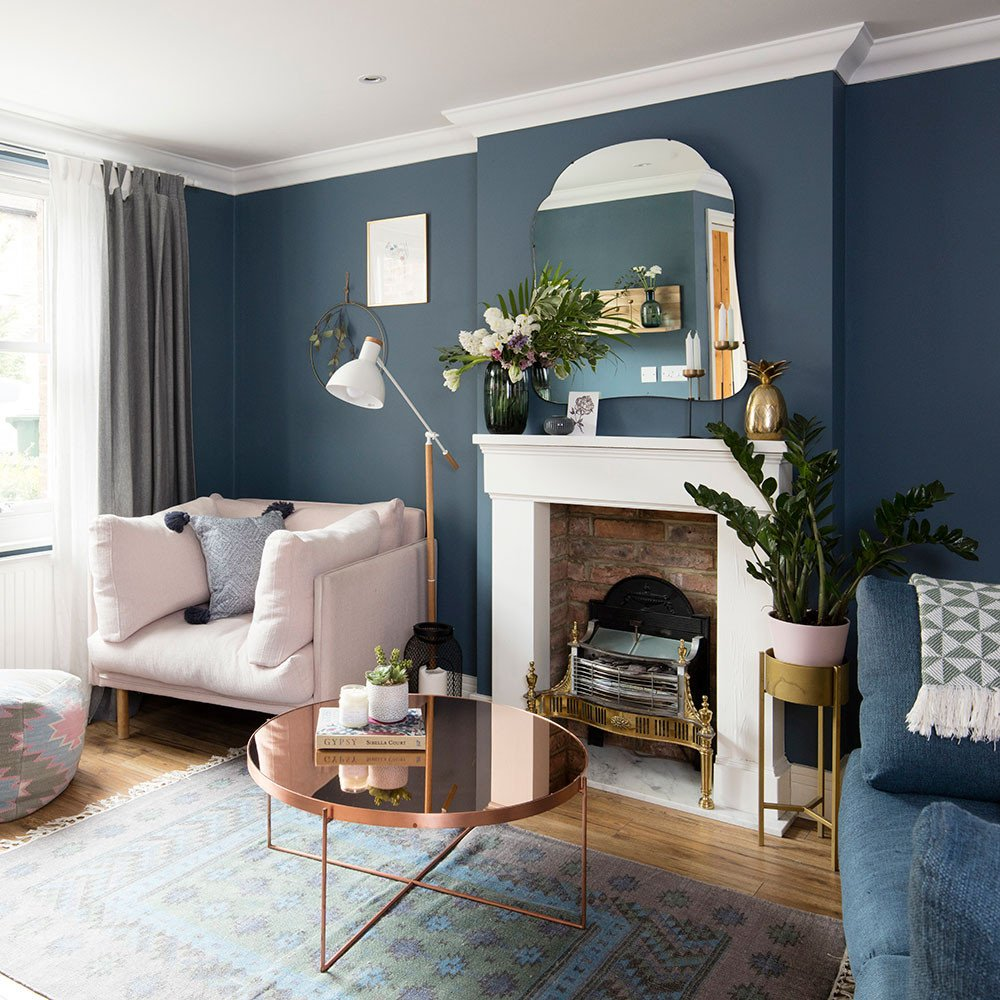 Traditional Blue Living Room Beautiful Blue Living Room Ideas – From Midnight to Duck Egg See How sophisticated Blue Can Be
