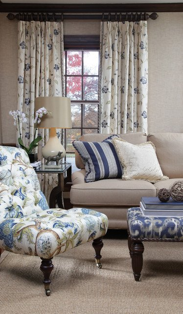 Traditional Blue Living Room Best Of Blue Horizon Fabric Collection Traditional Living Room by Calico