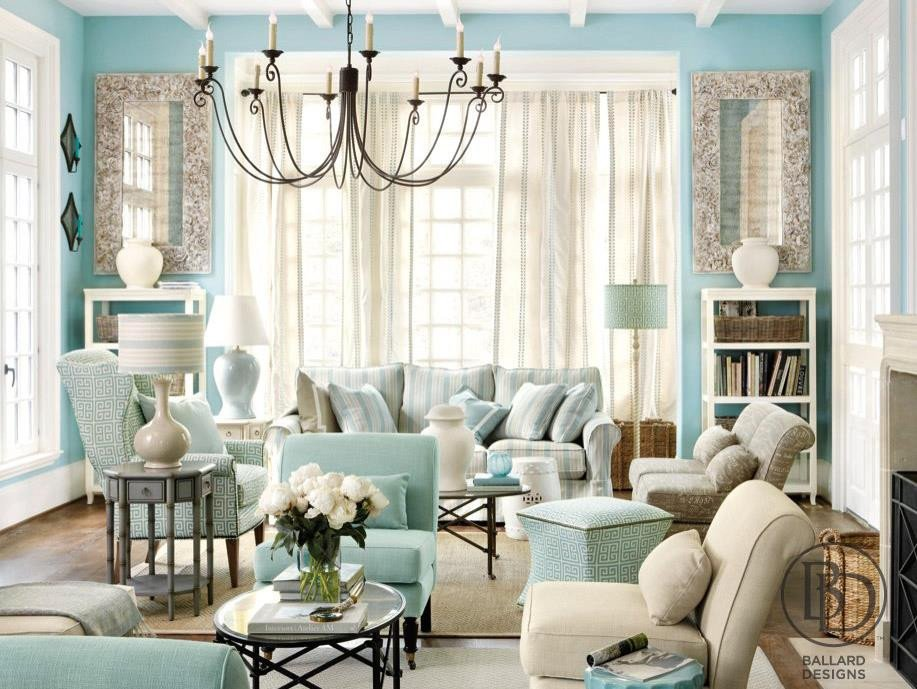 Traditional Blue Living Room Elegant Discovering Tiffany Blue Paint In 20 Beautiful Ways