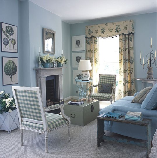 Traditional Blue Living Room Fresh Blue and White Traditional Meets Country Living Room