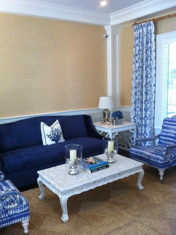 Traditional Blue Living Room Fresh Traditional Blue and White Living Room Designers Portfolio Hgtv Home & Garden Television