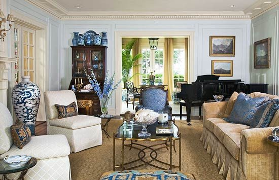 Traditional Blue Living Room New Elegant Living Rooms In Neutral Colors
