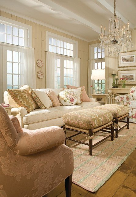 Traditional Chic Living Room New Cream and Beige
