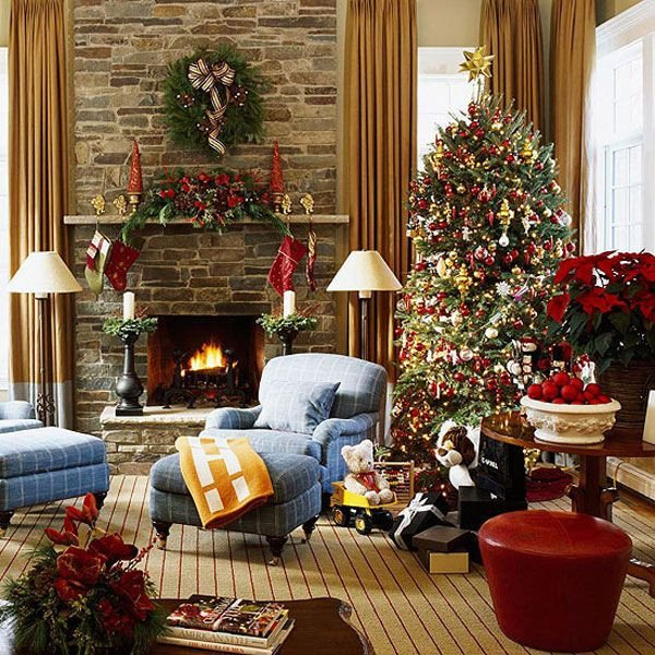 Traditional Christmas Living Room Awesome 10 Christmas Color Schemes Christmas Decoration Ideas