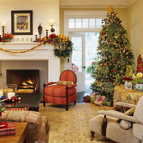Traditional Christmas Living Room Awesome 40 Traditional Christmas Decorations
