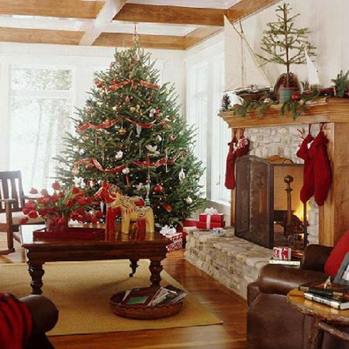 Traditional Christmas Living Room Beautiful Merry Christmas Decorating Ideas for Living Rooms and Fireplace Mantels