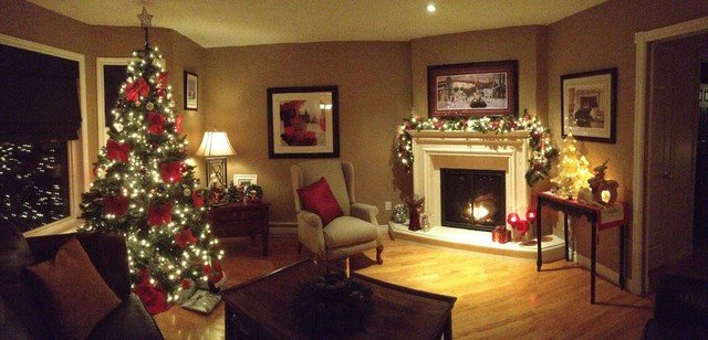 Traditional Christmas Living Room Elegant Christmas Decorating 2012 Traditional Living Room Other