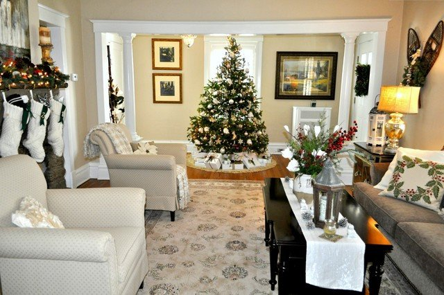 Traditional Christmas Living Room Lovely Christmas 2012 Traditional Living Room New York by Elite Staging and Redesign Llc
