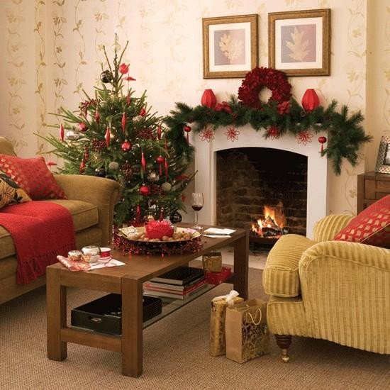 Traditional Christmas Living Room Lovely Merry Christmas Decorating Ideas for Living Rooms and Fireplace Mantels