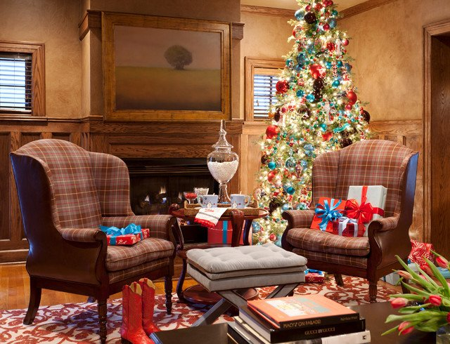 Traditional Christmas Living Room New Holiday