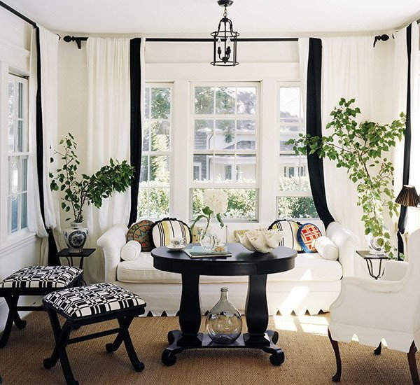Traditional Draperies Living Room Elegant 21 Black and White Traditional Living Rooms