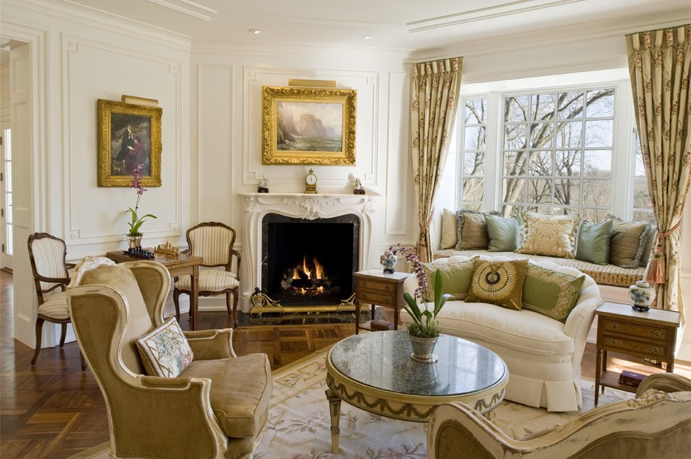 Traditional Draperies Living Room Elegant How to solve the Curtain Problem when You Have Bay Windows