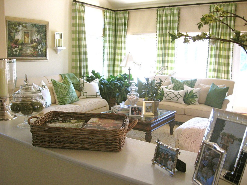 Traditional Draperies Living Room Unique Pretty Buffalo Check Curtains In Living Room Traditional with Green Curtains Next to Green