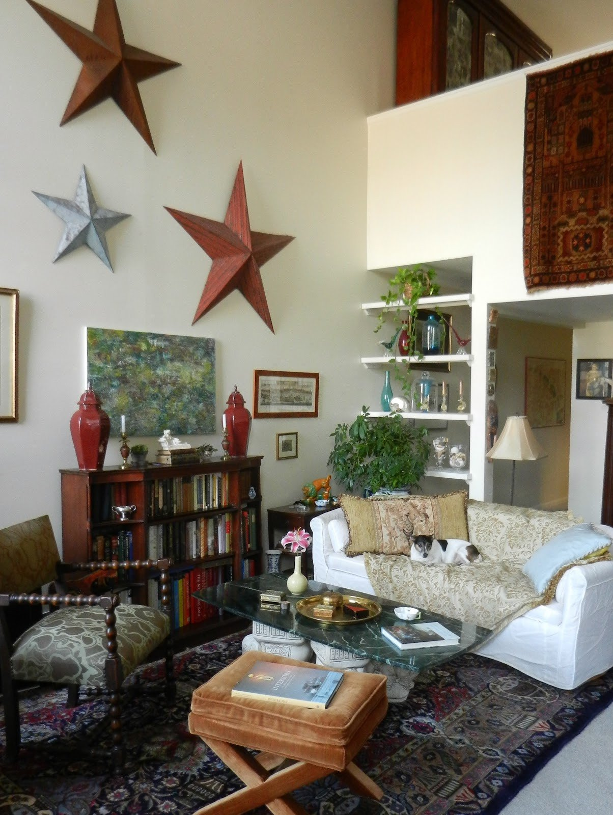 Traditional Eclectic Living Room Awesome Knickerbocker Style & Design Abstract Modern Art In A Traditional Eclectic Room