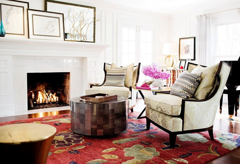 Traditional eclectic living room