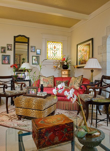 Traditional Eclectic Living Room Luxury Eclectic Style Traditional Living Room Other by Archetype Design Studio Llc
