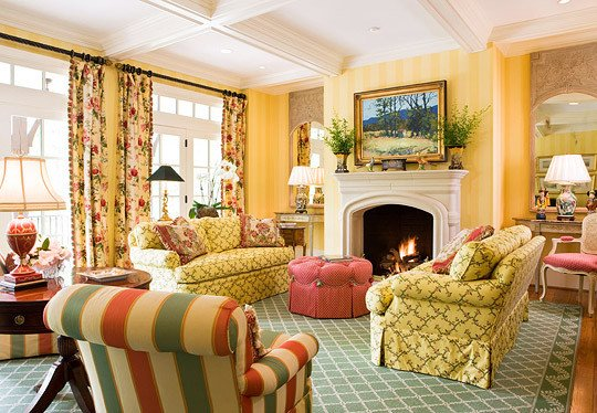 Traditional Green Living Room Awesome Colorful Living Rooms