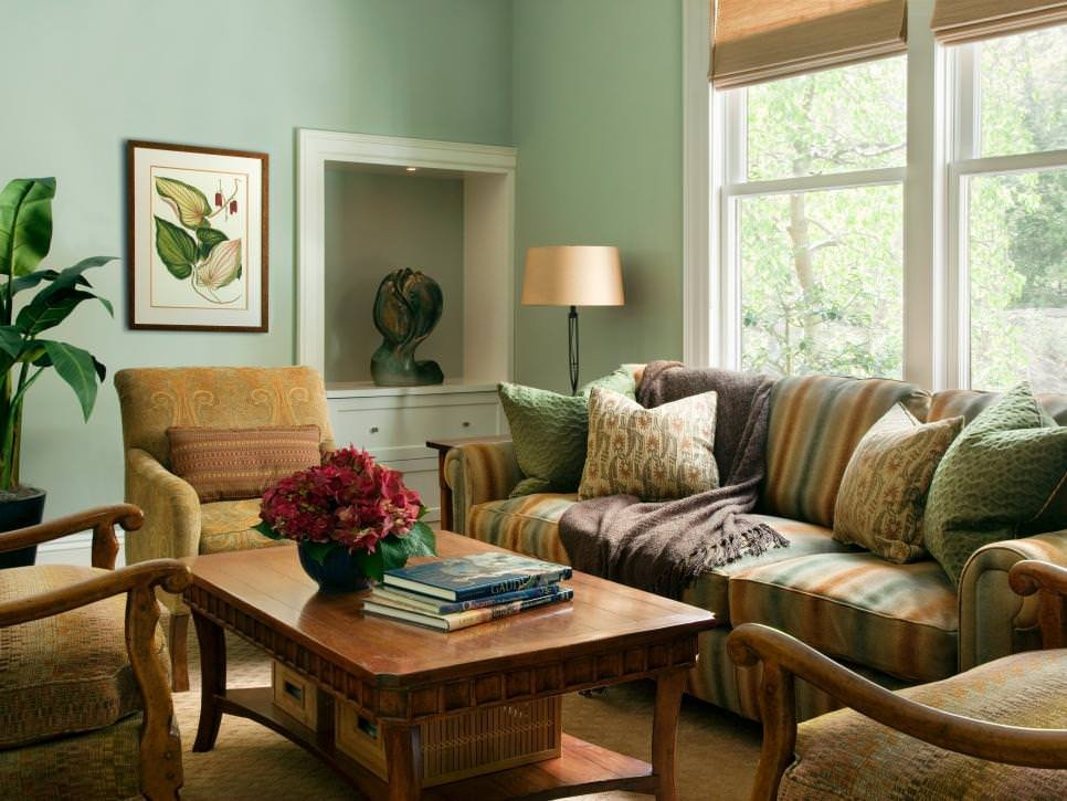 Traditional Green Living Room Beautiful 23 Green Wall Designs Decor Ideas for Living Room