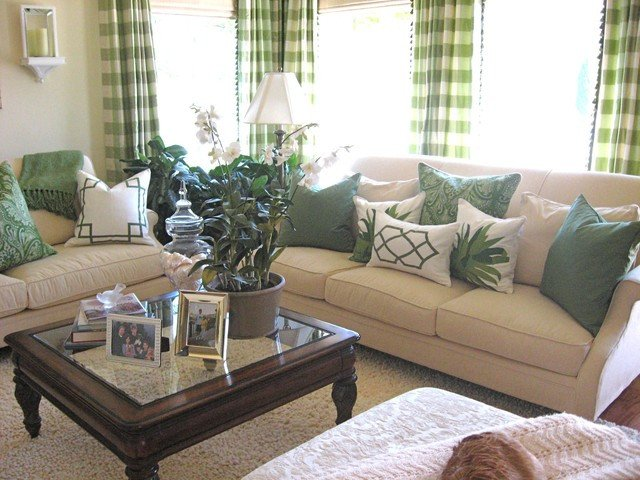 Traditional Green Living Room Lovely Green Living Room Traditional Living Room Los Angeles by Alexandra Rae Design