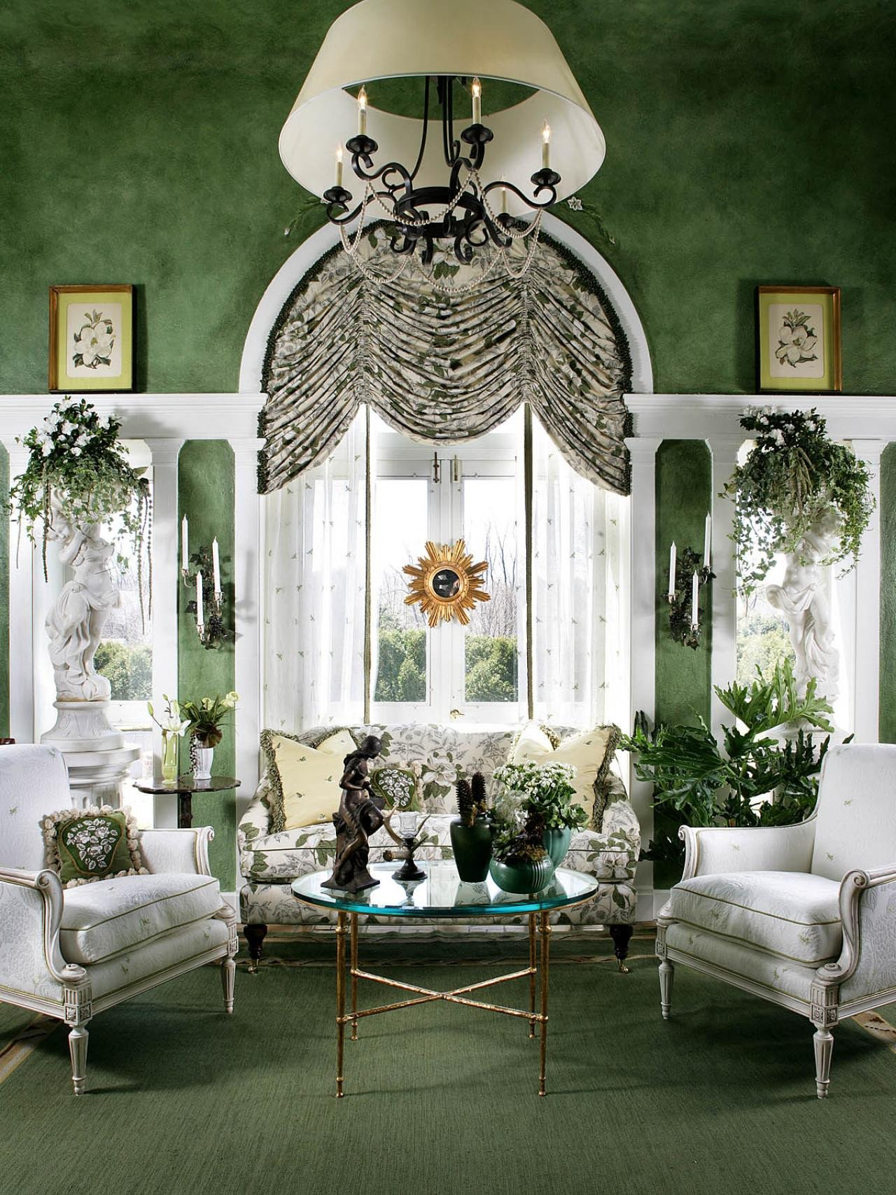 Traditional Green Living Room Lovely Page
