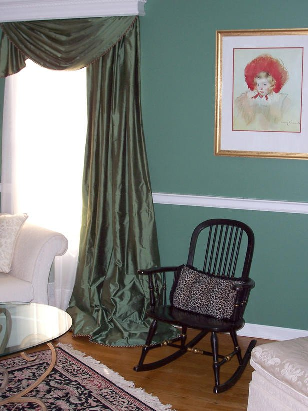 Traditional Green Living Room Luxury Green Living Room with Black Rocking Chair