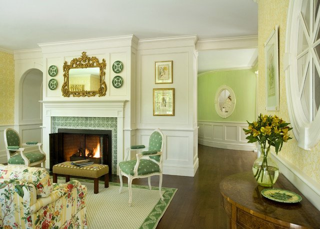 Traditional Green Living Room Luxury Green Tea Traditional Living Room Other by Siemasko Verbridge