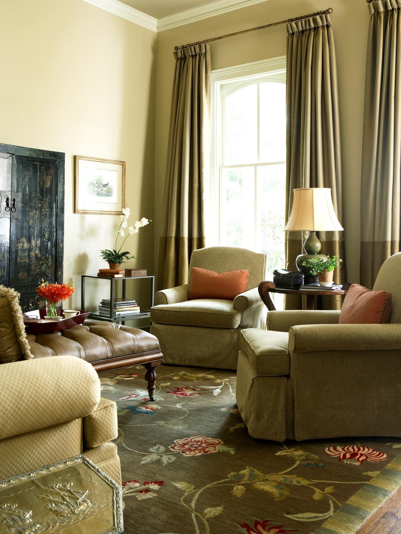 Traditional Green Living Room Luxury Page
