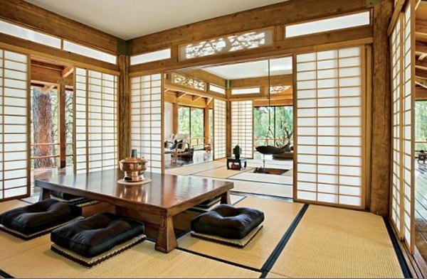 Traditional Japanese Living Room Unique Traditional Japanese House Design with Stunning forest