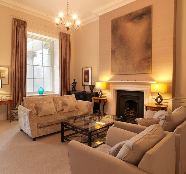 Traditional Living Room Apartment Fresh Classic Contemporary Apartment In An English Stately Home Traditional Living Room Other