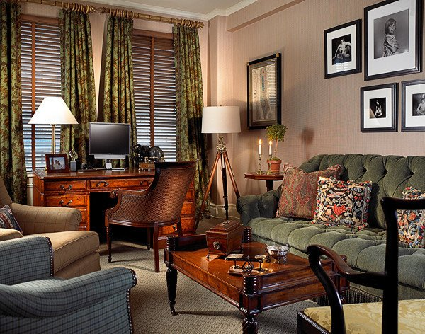 Traditional Living Room Apartment Fresh Gentleman S Apartment In New York City Traditional Living Room New York by Edward