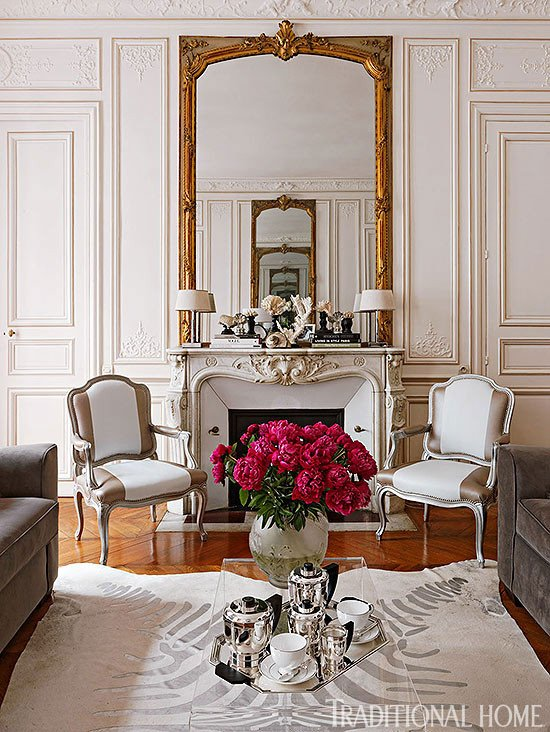 Traditional Living Room Apartment Unique Colorful and Romantic Paris Apartment