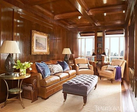 Traditional Living Room Apartment Unique New York Apartment with Elegant British Style Fices & Libraries