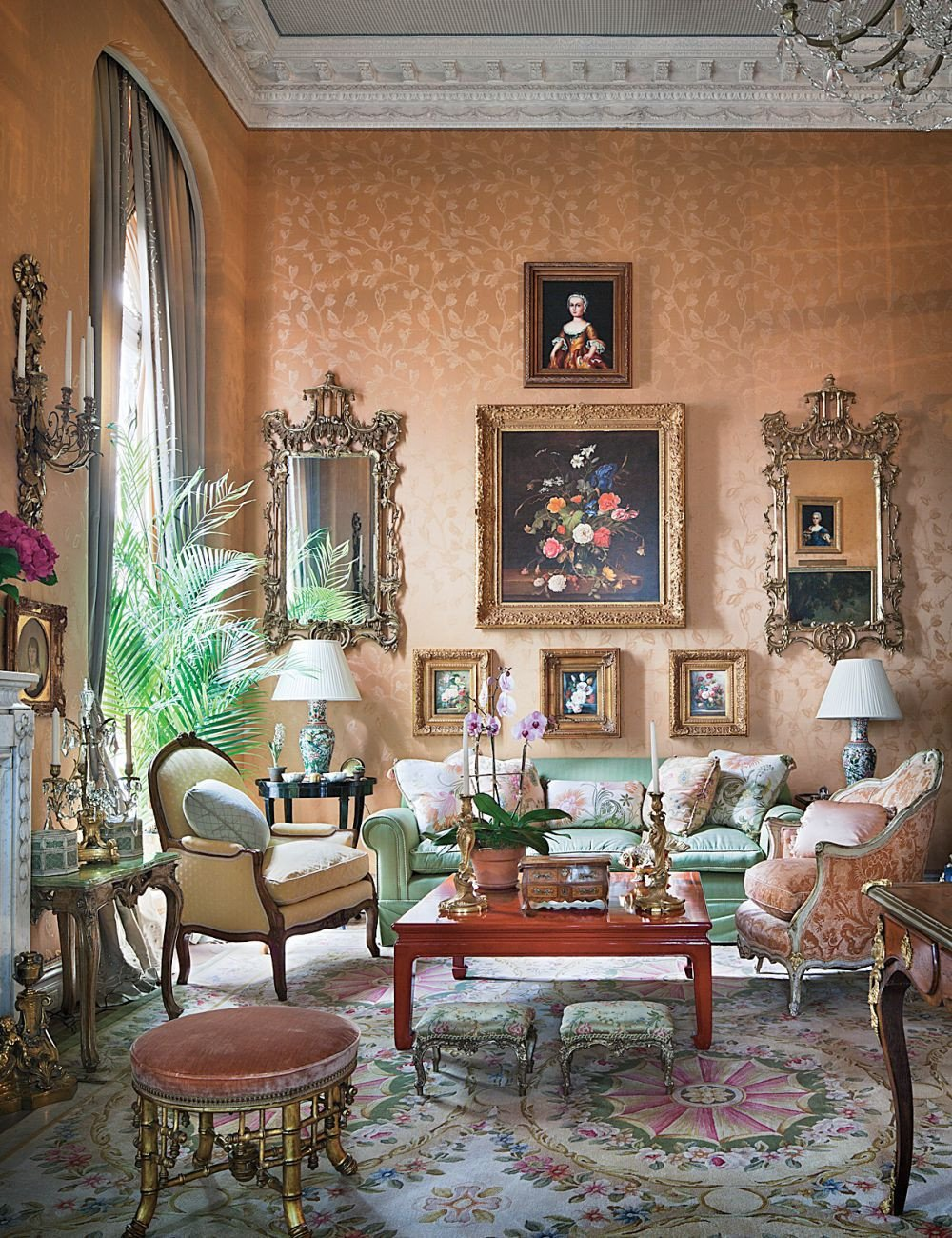 Traditional Living Room Apartment Unique Traditional Living Room by Mario Buatta by Architectural Digest