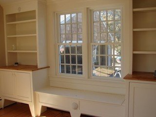 Traditional Living Room Bookcases Beautiful Bookcases and Bench Seat Traditional Living Room Boston by Bass River Carpentry