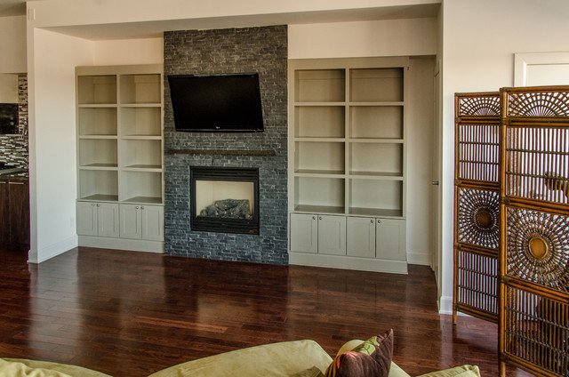 Traditional Living Room Bookcases Best Of Upper Beaches Condo Built In Bookcase Traditional Living Room by Seva Rybkine