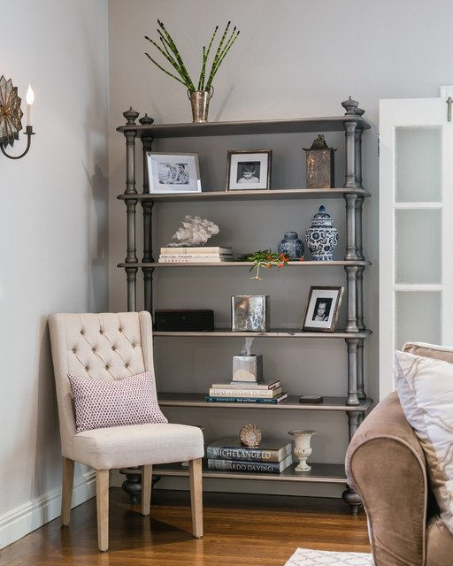 Traditional Living Room Bookcases Fresh Silver Bookcase Traditional Living Room San Francisco by Catherine Nguyen Graphy