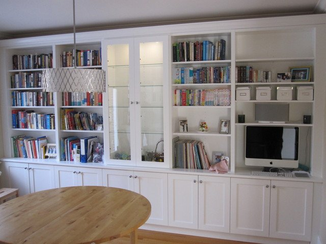 Traditional Living Room Bookcases Lovely White Bookcases with Built In Desk Traditional Living Room Cambridgeshire by Tim Bowdin