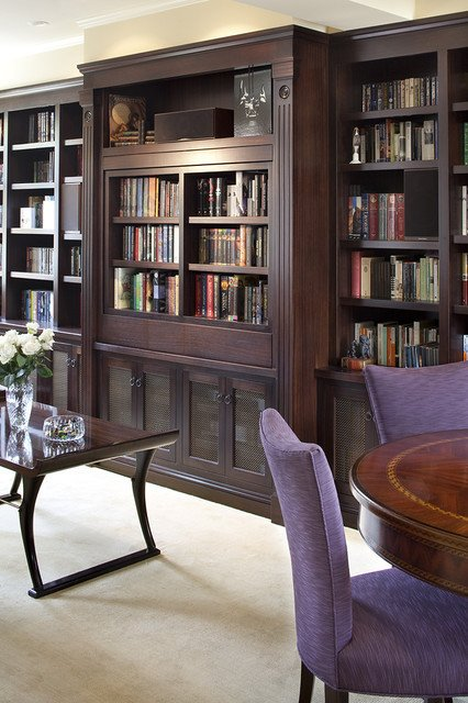 Traditional Living Room Bookcases Luxury Pivoting Tv Turning Into Bookcase Traditional Living Room Other by Lindy Donnelly