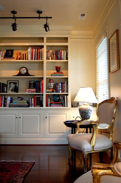Traditional Living Room Bookcases New Custom Built In Bookcase Traditional Living Room Richmond by Leslie Stephens Design