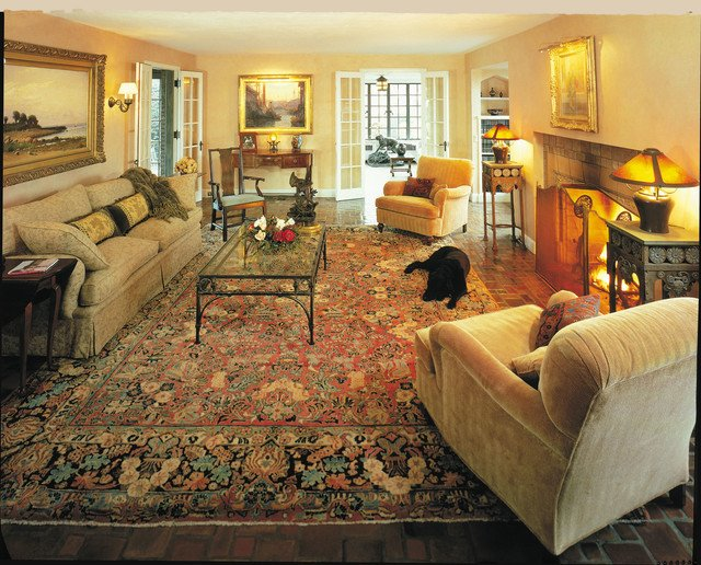 Traditional Living Room Carpets Lovely Antique Sarouk Rugs Makes A Room Elegant and Cozy Traditional Living Room Boston by