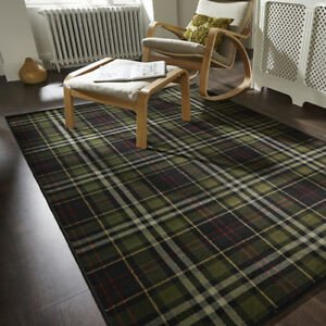 Traditional Living Room Carpets Luxury Traditional Black Green Tartan Living Room Rugs soft Small Carpet area Rug